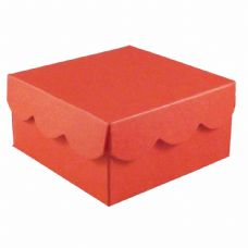 Red Scalloped Lid Designer Favour Boxes